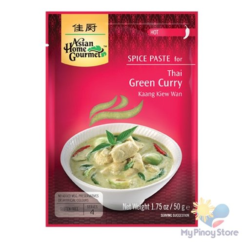 Green curry spice paste 50 g - Asian Home Gourmet