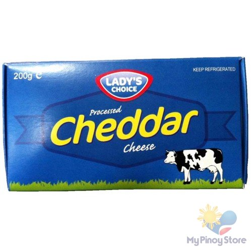Cheddar, processed cheese box 200 g - Lady's Choice