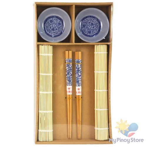 Japanese Style Dinnerware set for Two, Blue deco